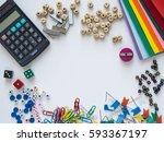 school and office supplies. top ... | Shutterstock . vector #593367197