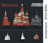russia. vector silhouette icon...   Shutterstock .eps vector #593378081