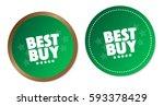 best buy stickers | Shutterstock .eps vector #593378429