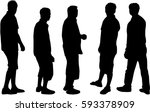 silhouette of a man. | Shutterstock .eps vector #593378909