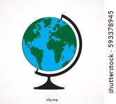 vector globe icons | Shutterstock .eps vector #593378945