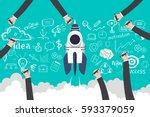 business development and team... | Shutterstock .eps vector #593379059