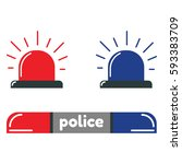 police flasher icons | Shutterstock .eps vector #593383709