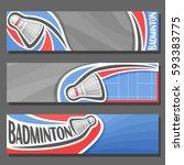 vector horizontal banners for... | Shutterstock .eps vector #593383775