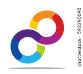 infinity icon | Shutterstock .eps vector #593390045