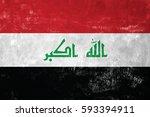 iraq   iraqi flag on old grunge ... | Shutterstock . vector #593394911