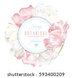 vector round banner with white... | Shutterstock .eps vector #593400209