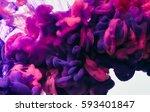 ink drop in water. abstract... | Shutterstock . vector #593401847