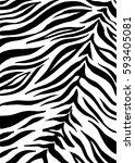 zebra print  animal skin  tiger ... | Shutterstock .eps vector #593405081
