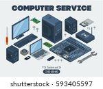 computer service template.... | Shutterstock .eps vector #593405597