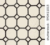 vintage castle geometric... | Shutterstock .eps vector #593411015
