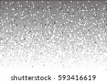 fading greyscale pixel pattern. ... | Shutterstock .eps vector #593416619