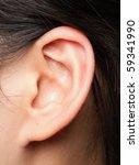 closeup of a human ear | Shutterstock . vector #59341990
