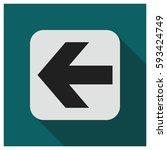 left arrow vector icon | Shutterstock .eps vector #593424749