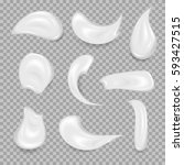 White Cream Elements. Element...