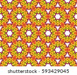 romantic geometric floral... | Shutterstock .eps vector #593429045
