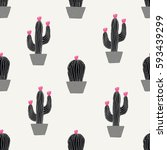 Seamless Pattern With Cactus I...