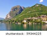 Menaggio town at famous Italian lake Como - stock photo