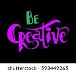 vector hand lettered... | Shutterstock .eps vector #593449265