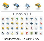 isometric flat icon set. 3d... | Shutterstock .eps vector #593449727