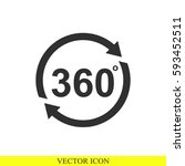 angle 360 degrees vector icon | Shutterstock .eps vector #593452511