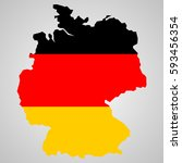 map of germany and german flag... | Shutterstock .eps vector #593456354
