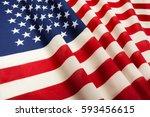 united states of america flag...   Shutterstock . vector #593456615