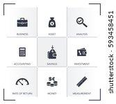 cash flow icon set | Shutterstock .eps vector #593458451