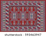 Colorful Oriental Mosaic Kazak...