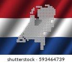 netherlands map of votes on... | Shutterstock . vector #593464739