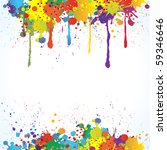 colorful bright ink splashes on ... | Shutterstock .eps vector #59346646