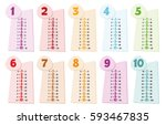 colorful multiplication table