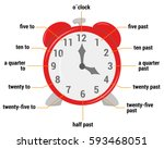 the time vocabulary vector... | Shutterstock .eps vector #593468051