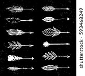 arrows in native american... | Shutterstock .eps vector #593468249