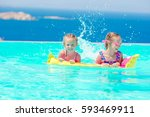 adorable little girls playing...   Shutterstock . vector #593469911
