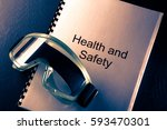 health and safety document with ... | Shutterstock . vector #593470301