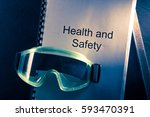health and safety document with ... | Shutterstock . vector #593470391