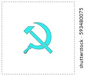 ussr outline vector icon with...