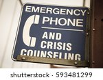 emergency phone and crisis... | Shutterstock . vector #593481299