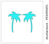 palms outline vector icon with...