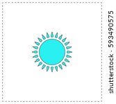 sun outline vector icon with...