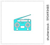 boombox outline vector icon...