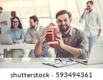 business people are using... | Shutterstock . vector #593494361