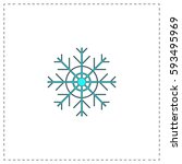 snowflake outline vector icon...