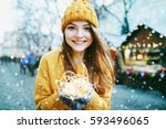 outdoor portrait of young... | Shutterstock . vector #593496065