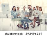 business people are using... | Shutterstock . vector #593496164