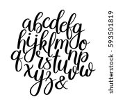 vector hand drawn alphabet.... | Shutterstock .eps vector #593501819