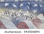 close up of we the people of... | Shutterstock . vector #593504894