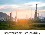 oil and gas industry and... | Shutterstock . vector #593508017