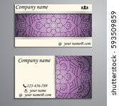 visiting card and business card ... | Shutterstock .eps vector #593509859